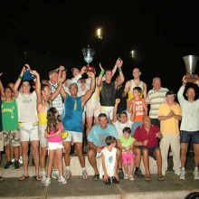 La Coppa Barontini 2008 alzata al cielo per la vittoria del Benci Centro.