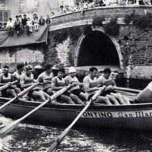 Il gozzo del Pontino, vincitore della prima Coppa Barontini del 1966.
