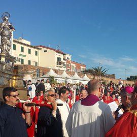 La processione di Santa Giulia durante la Giostra dell'Antenna.