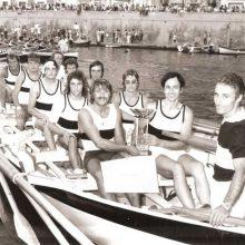 Equipaggio del Borgo premiato alla Coppa Barontini del 1969.