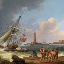 Jakob Philipp Hackert, naufragio fuori dal porto di Livorno,1770.