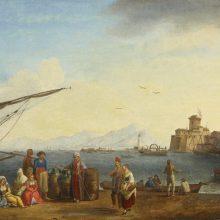 Jakob Philipp Hackert, vista del porto di Livorno,1770.