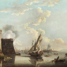 John Thomas Serres, vista del Castello di Livorno, 1797.