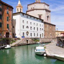 La Chiesa di Santa Caterina e gli Scali del Refugio, Livorno.